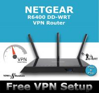 NETGEAR R6400 DD-WRT VPN ROUTER REFURBISHED