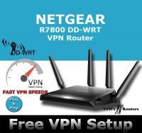 NETGEAR R7800 X4S DD-WRT VPN ROUTER REFURBISHED