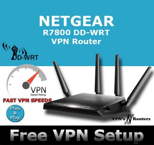 NETGEAR R7800 X4S DD-WRT VPN ROUTER REFURBISHED