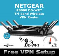 NETGEAR R8000 X6 DD-WRT VPN ROUTER REFURBISHED