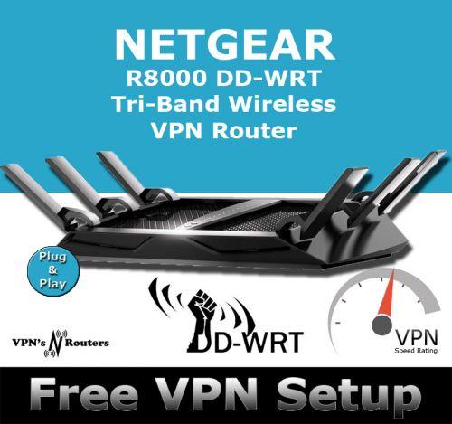 NETGEAR R8000 X6 DD-WRT VPN ROUTER REFURBISHED