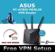 ASUS RT-AC86U MERLIN VPN WIRELESS ROUTER