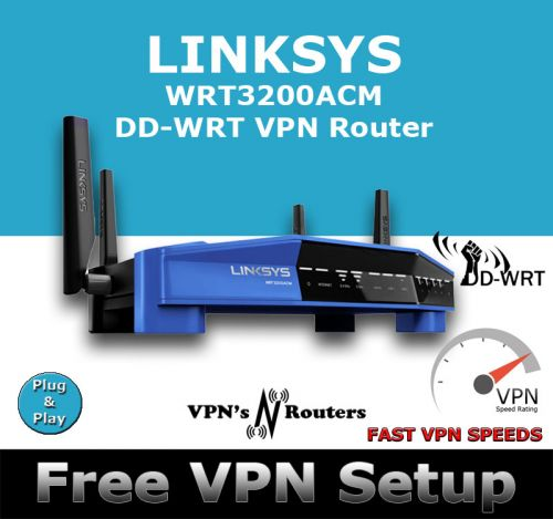 LINKSYS WRT3200ACM DD-WRT VPN ROUTER REFURBISHED