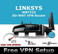 LINKSYS WRT32X DD-WRT VPN ROUTER REFURBISHED